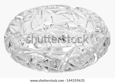 Close-up of a crystal ashtray #144359635