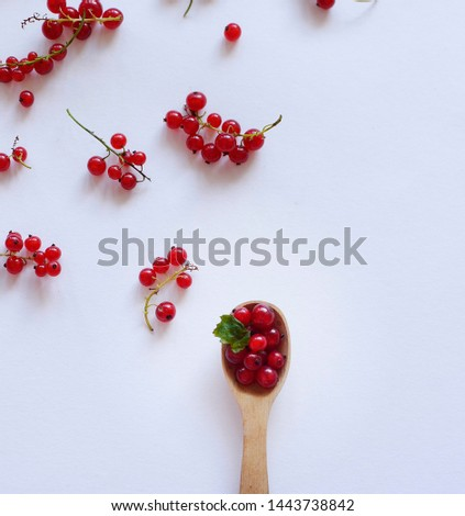 Redberry slices on a white background #1443738842