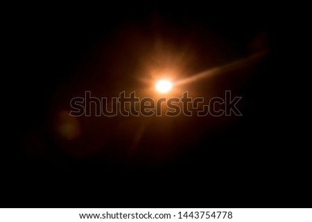 Abstract Natural Sun flare on the black #1443754778