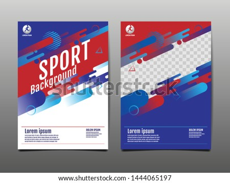 Layout template Design, Sport Background, Dynamic Poster, Banner, Vector Illustration.