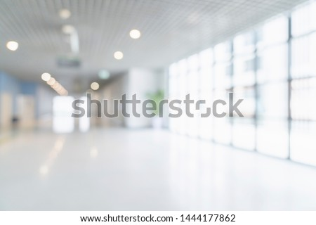 blur image background of corridor in hospital or clinic image #1444177862