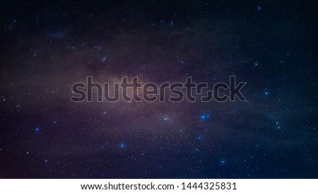 Milky way,galaxy,cosmos on dark sky #1444325831