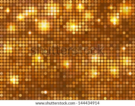Golden vector background ??�¢?? horizontal mosaic with light spots