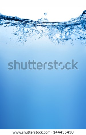 Water and air bubbles over white background #144435430