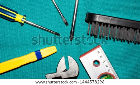 Background of different instruments.Set of tools. #1444578296