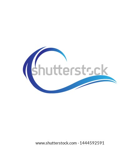 Water wave Logo Icon Design Template Vector Illustration. #1444592591