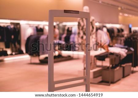 store anti-theft system signalisation alarm, scanner entrance gate #1444654919