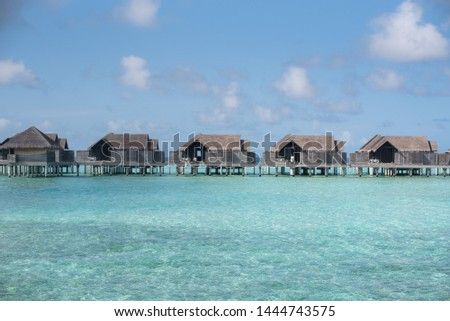 maldives villa lagoon palm island #1444743575