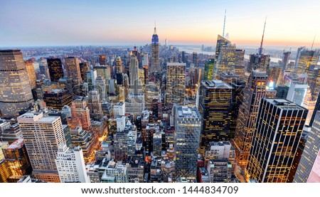 New York City - Manhattan skyline Royalty-Free Stock Photo #1444834709