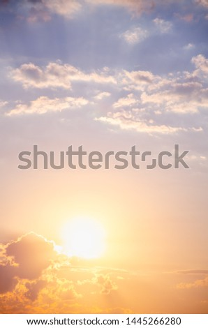 Background of colorful sunrise with clouds
