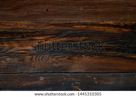 Background texture of wood, oak. Old wooden board brown.