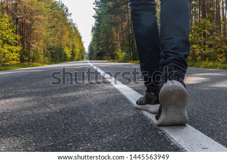 Photography of one step of going forward on the way #1445563949