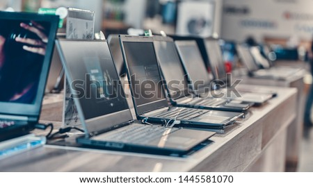 Hall shopping center. Shop digital equipment and electronics. Sale of laptops. #1445581070