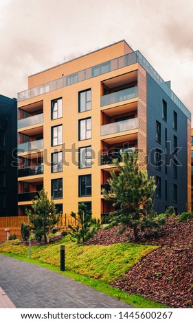 EU Modern architectural residential buildings quarters. And outdoor facilities. #1445600267
