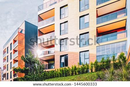 EU Modern european residential building quarter. And outdoor facilities. #1445600333