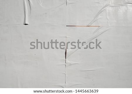 white plastered glued poster wall #1445663639