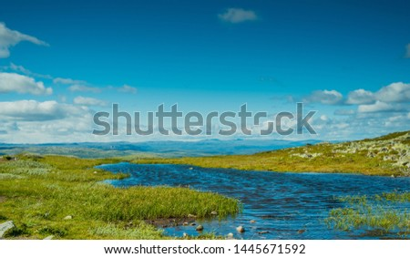 The Scandinavian Mountains in Norway and the region of Telemark, Gaustatoppen #1445671592