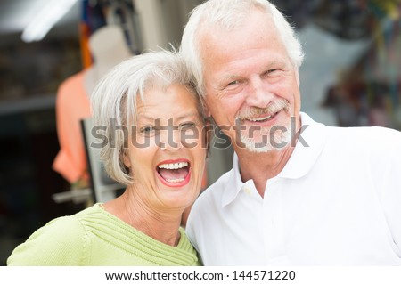 Portrait from a happy and smiling senior couple #144571220