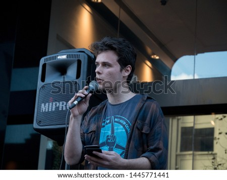 Cooper Forsyth speaking at the Occupy Liberal Lobby in Sydney City. 7th of July, 2019 #1445771441