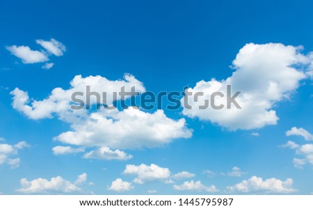 Blue sky background with clouds. sky clouds.The vast blue sky and clouds. clouds background. sky very clear background. #1445795987
