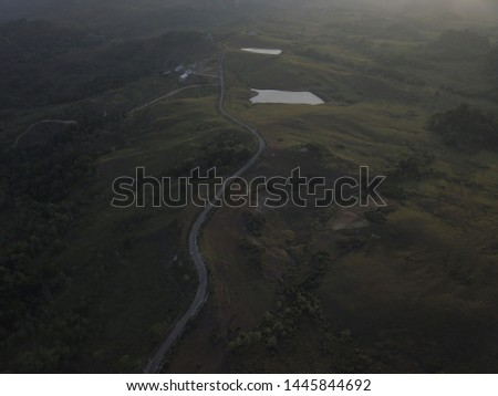 Beautiful landscape aerial view on the hill, Sumba island, Indonesia #1445844692