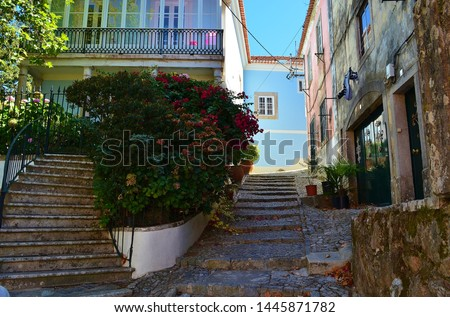old streets in Sintra in Portugal #1445871782