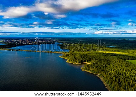 Finland at Summer - Landscapes from above with Drone #1445952449