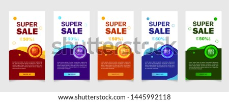 Dynamic modern fluid mobile for sale banners. Sale banner template design, vector greeting card, best price, super sale, flash sale special offer set #1445992118