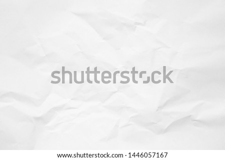 Clean white paper, wrinkled, abstract background. Royalty-Free Stock Photo #1446057167