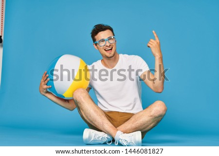 Man beach ball fun leisure leisure nature travel #1446081827