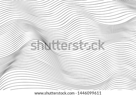 Wave Lines Pattern Abstract Background. Vector Royalty-Free Stock Photo #1446099611
