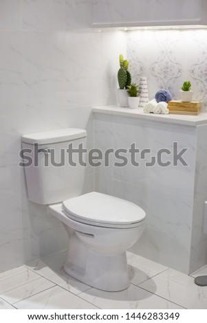 Toilet Bowl in Modern Bathroom #1446283349