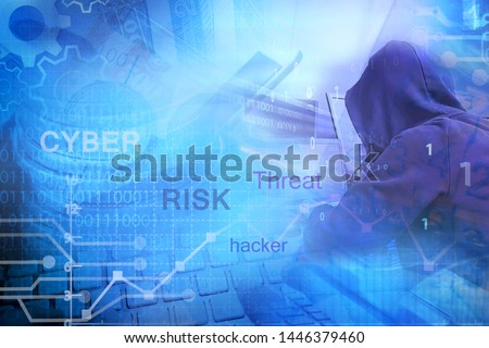 risk management for cyber threats concept Royalty-Free Stock Photo #1446379460
