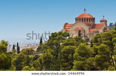 Orthodox church of Saint Pavlo at Thessaloniki, Greece #14464996
