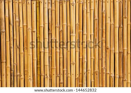 bamboo fence background Royalty-Free Stock Photo #144652832