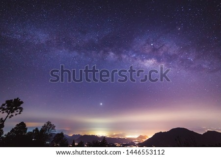 milky way over the town of Orizaba, Mexico #1446553112