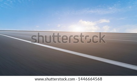 Road surface and sky cloud landscape #1446664568