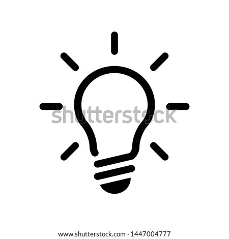 template light bulb, glowing light bulb design elements Royalty-Free Stock Photo #1447004777