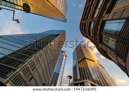 Architecture in capital city London Royalty-Free Stock Photo #1447256090
