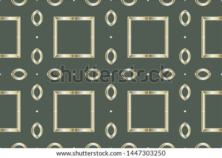 Abstract classic golden pattern. Golden ornament in Arabian style. Geometric background. Pattern wallpapers and for backgrounds. A popular trend in interior decoration  #1447303250