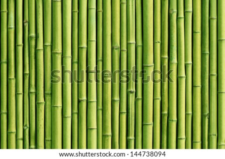 green bamboo fence background Royalty-Free Stock Photo #144738094