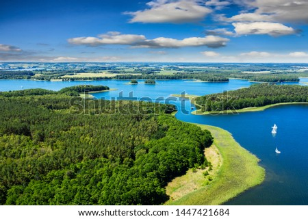 Masuria-the land of a thousand lakes in north-eastern Poland  #1447421684