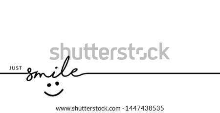 Slogan by happy and smile every day World smiling month Drawing emotion symbol Vector draw success relax quotes Relaxing and chill, motivation, inspiration message moment concept lazy ideas Smile time Royalty-Free Stock Photo #1447438535