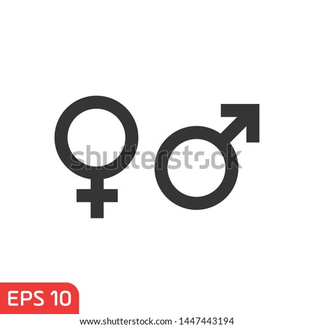 Gender. Man and Woman icon template color editable. Male and Female symbol vector sign isolated on white background illustration for graphic and web design. Royalty-Free Stock Photo #1447443194