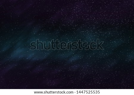 Abstract background texture of distant star space and multicolored nebula, illustration #1447525535