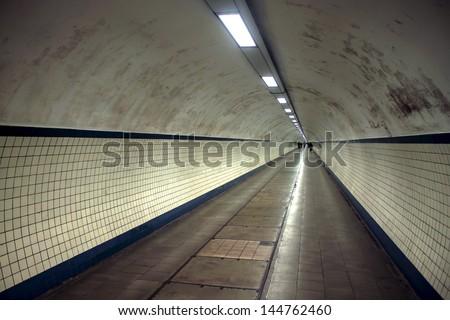 Pedestrian tunnel in Antwerp, Belgium #144762460