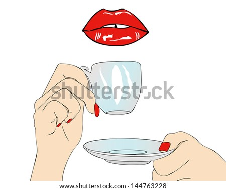 A good morning have coffee in the mouth