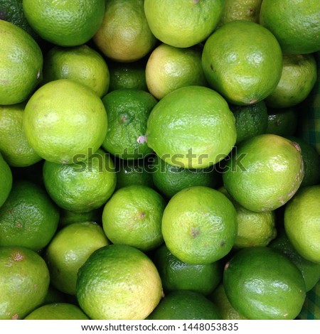 Macro Photo food citrus fruit lime. Texture juicy green tropical lime fruit. #1448053835