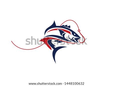 Fishing logo. Fish Logo, Wild Fish Logo, Fly Fishing Logo, Fishing Hook,