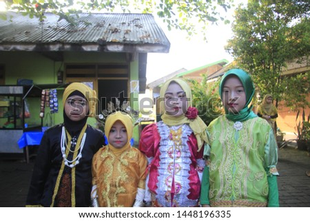 Makassar,Sulawesi Selatan - 31 march 2019 : traditional day clothes in Indonesia #1448196335